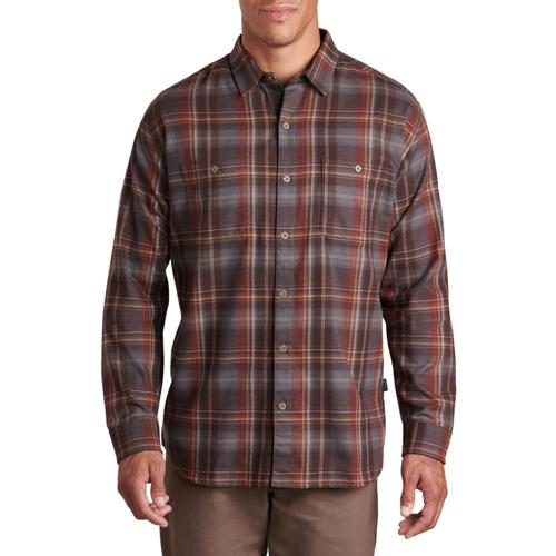 KUHL Men's Fugitive Flannel Long Sleeve Shirt Firestone