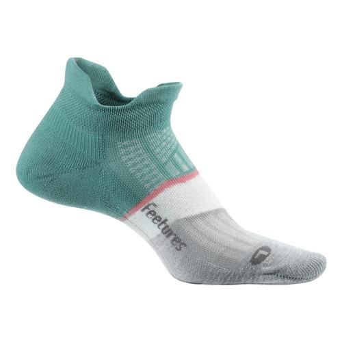 Feetures Unisex Elite Max Cushion No Show Tab Socks Softmoss