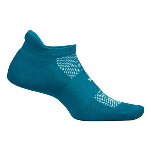 Feetures High Performance Cushion No Show Tab Socks Digitlteal