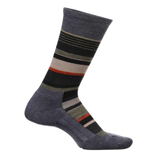 Feetures Men's Be Bold Cushion Crew Socks Charcoal