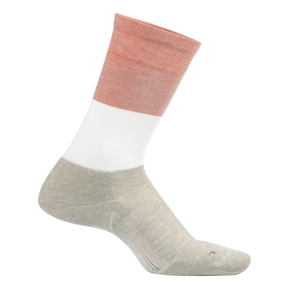 Feetures Women's Everyday Mod Block Cushion Crew Socks OATMEAL