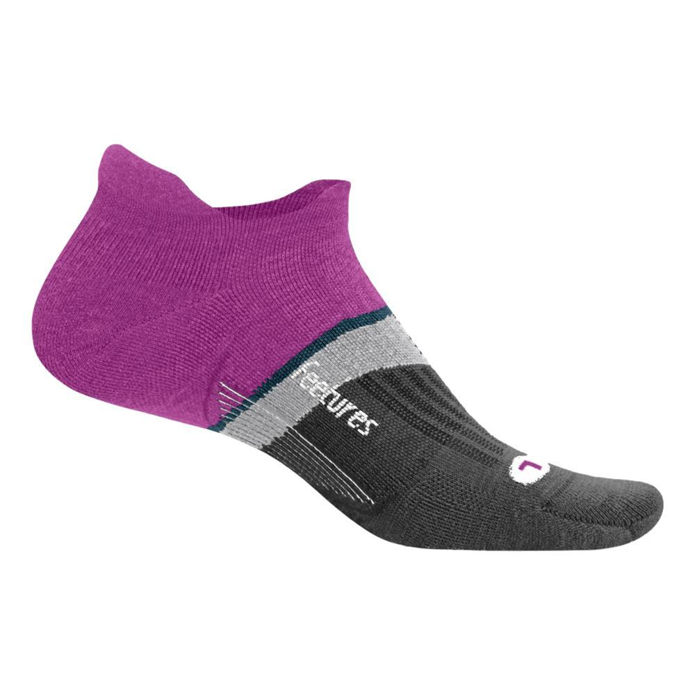 Feetures Merino 10 Cushion No Show Tab Socks PURPLEADD