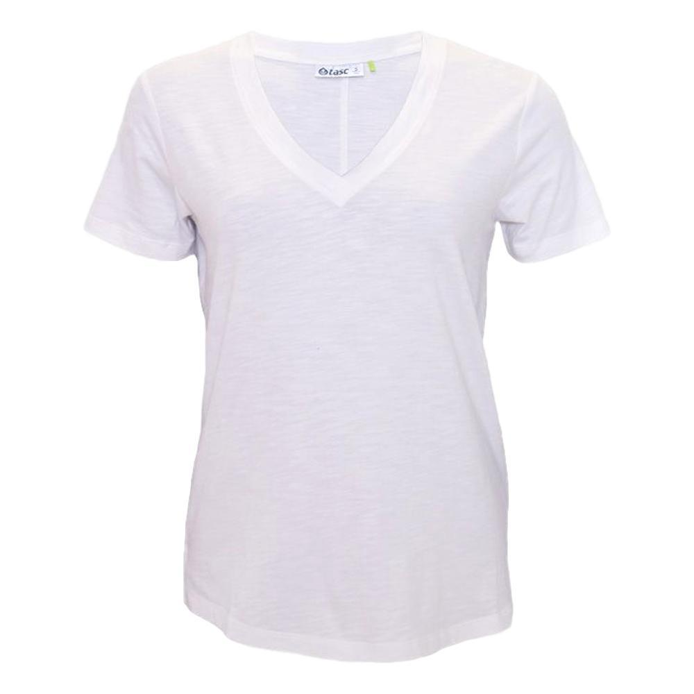 tasc Women's Easy V-Neck T-Shirt WHITE_100
