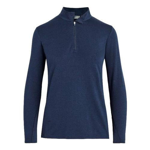 tasc Women's St. Charles Bamboo Quarter Zip Top Navy_416