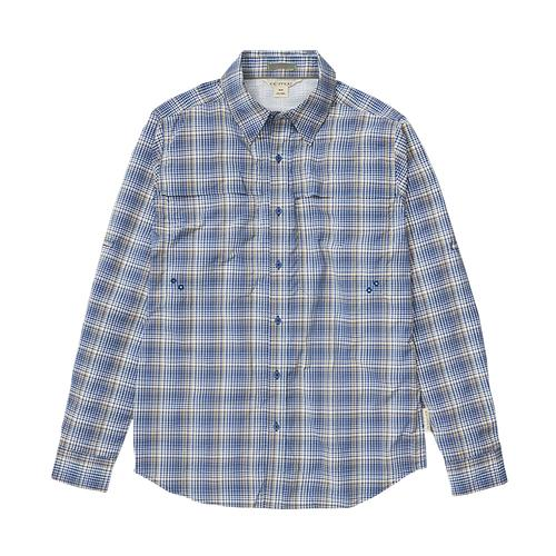 ExOfficio Men's Tellico Long Sleeve Shirt Blue_5017