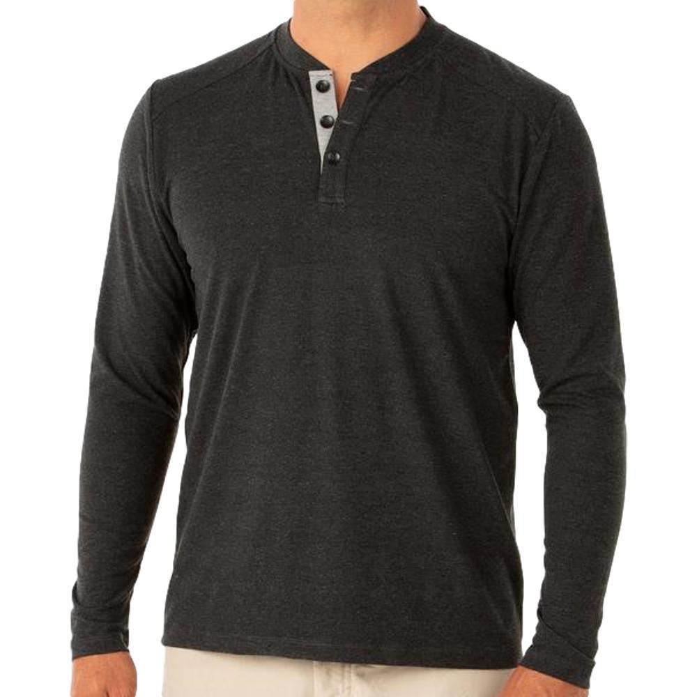 Free Fly Men's Bamboo Flex Henley Shirt BLACK109