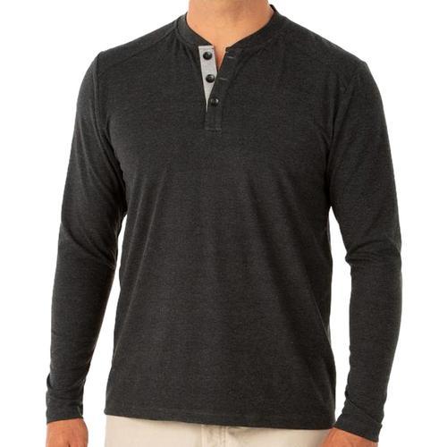 Free Fly Men's Flex Henley Shirt Black109