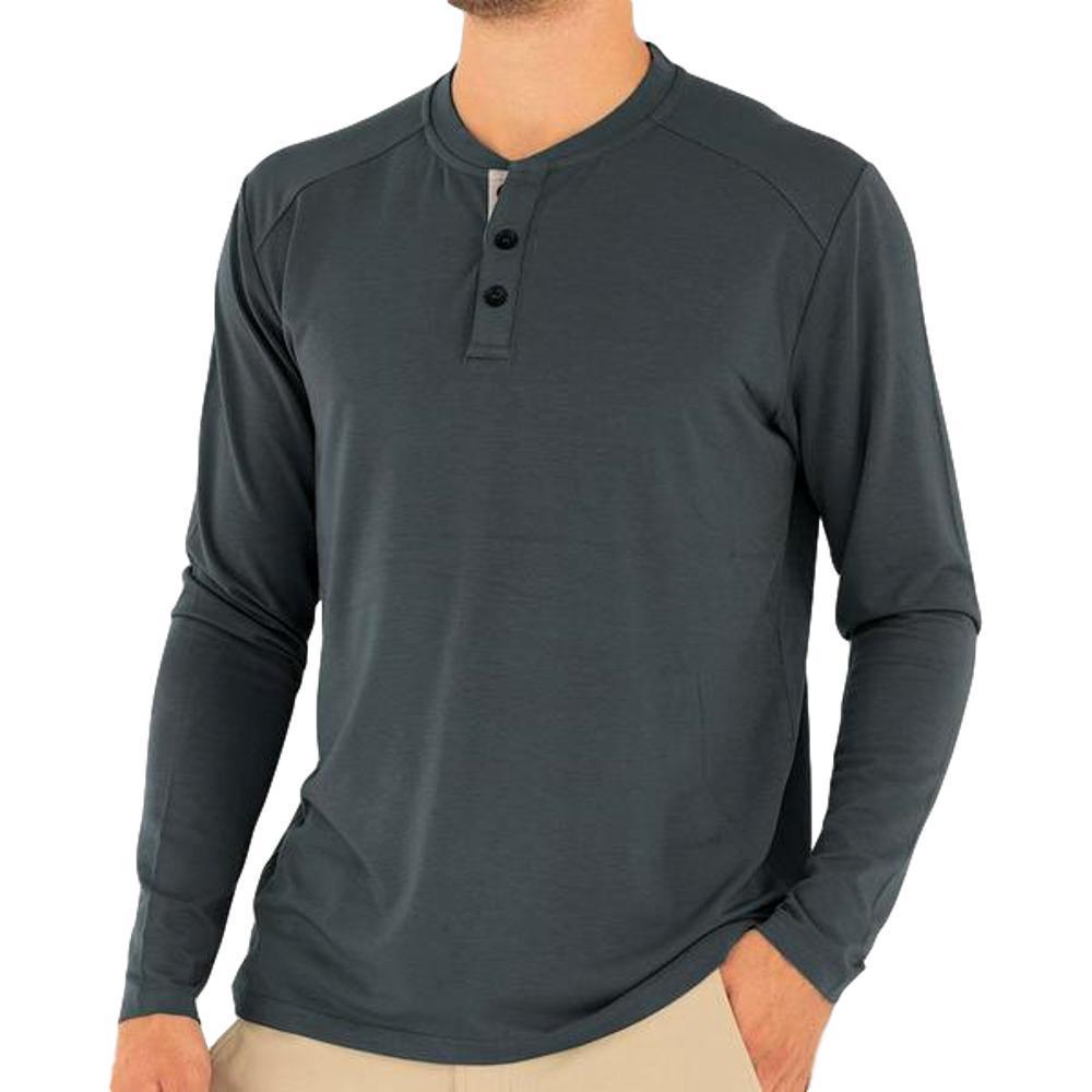 Free Fly Men's Bamboo Flex Henley Shirt BLUEDUSK_112
