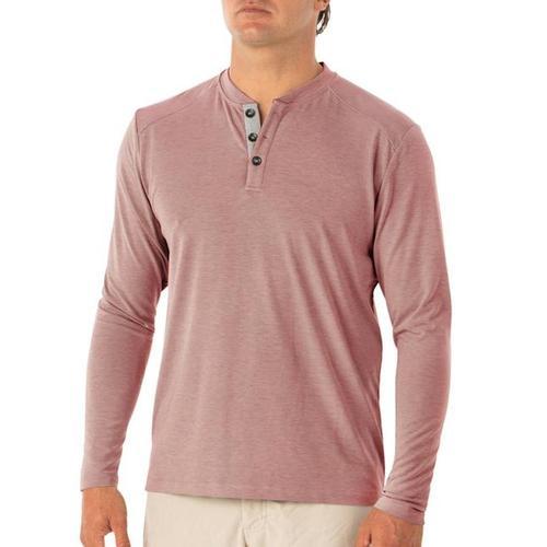Free Fly Men's Flex Henley Shirt Brickhthr119