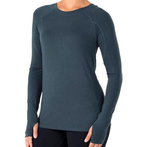 Free Fly Women's Bamboo Midweight Long Sleeve Shirt Bluedusk_117