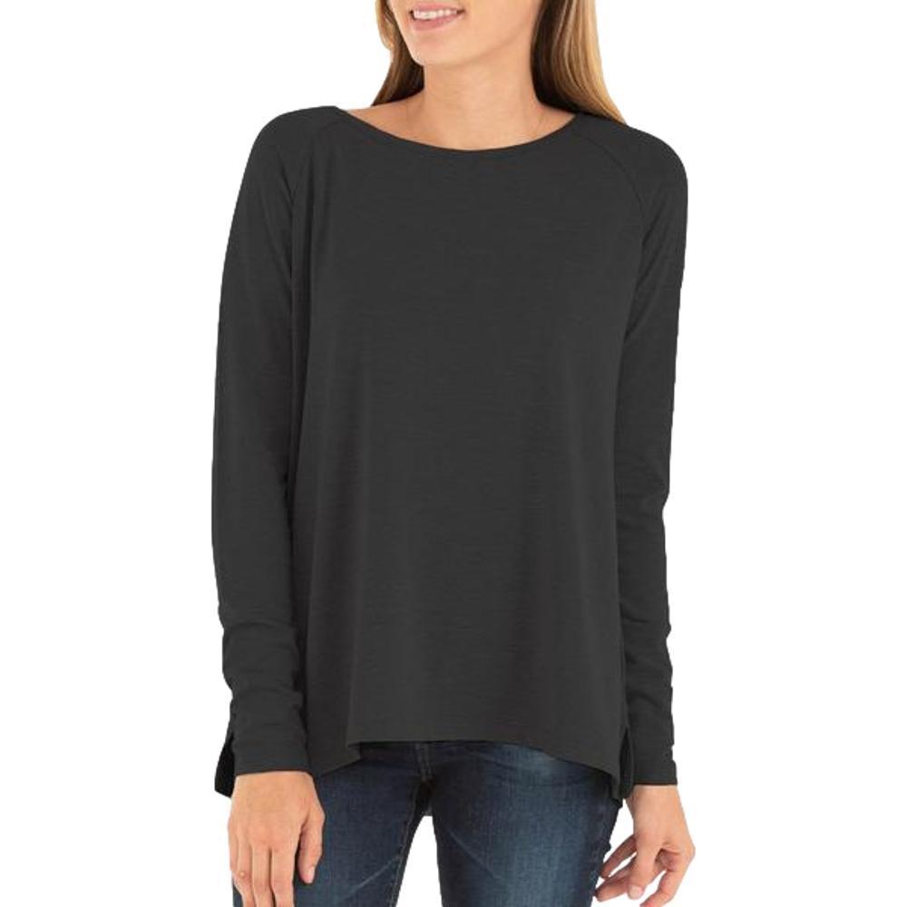 Free Fly Women's Bamboo Everyday Flex Long Sleeve Shirt BLACKH_105