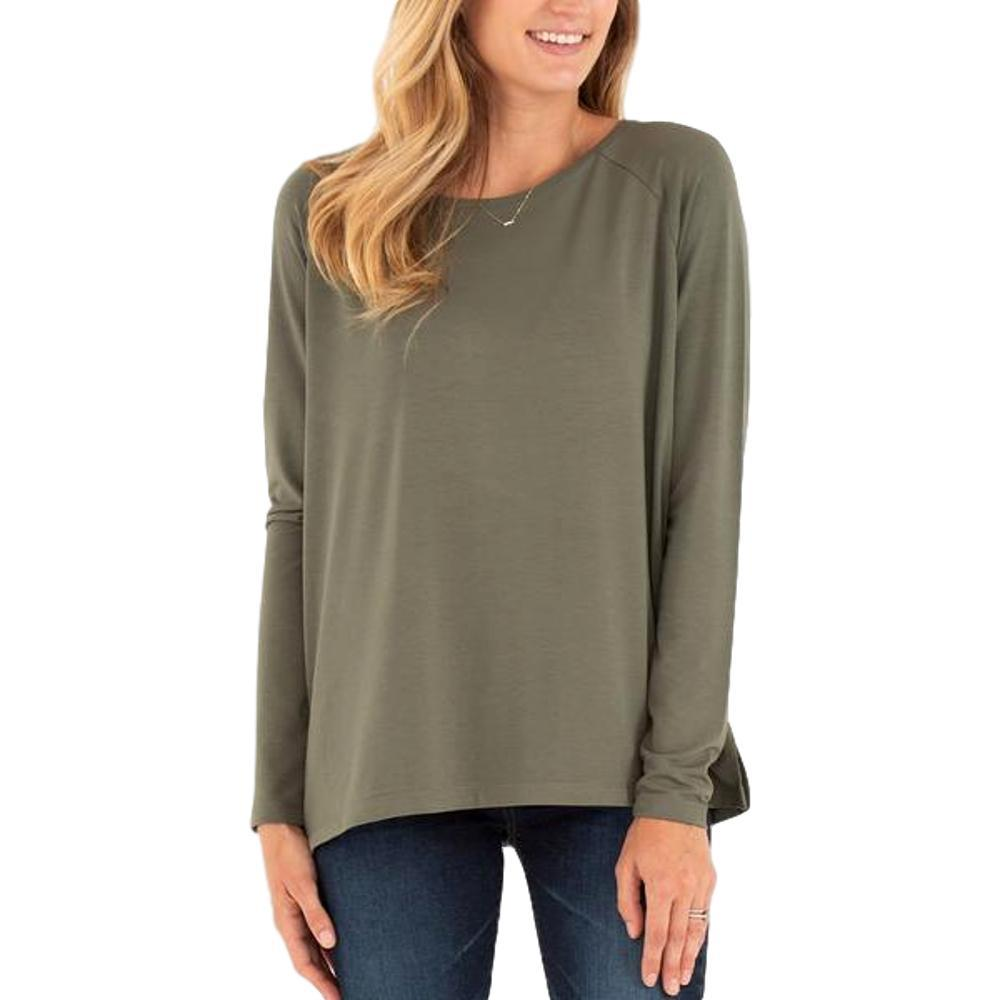 Free Fly Women's Bamboo Everyday Flex Long Sleeve Shirt DKOLIVE_102