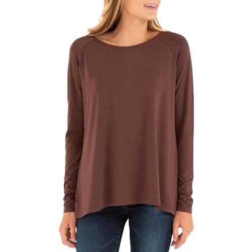 Free Fly Women's Bamboo Everyday Flex Long Sleeve Shirt Umber_103