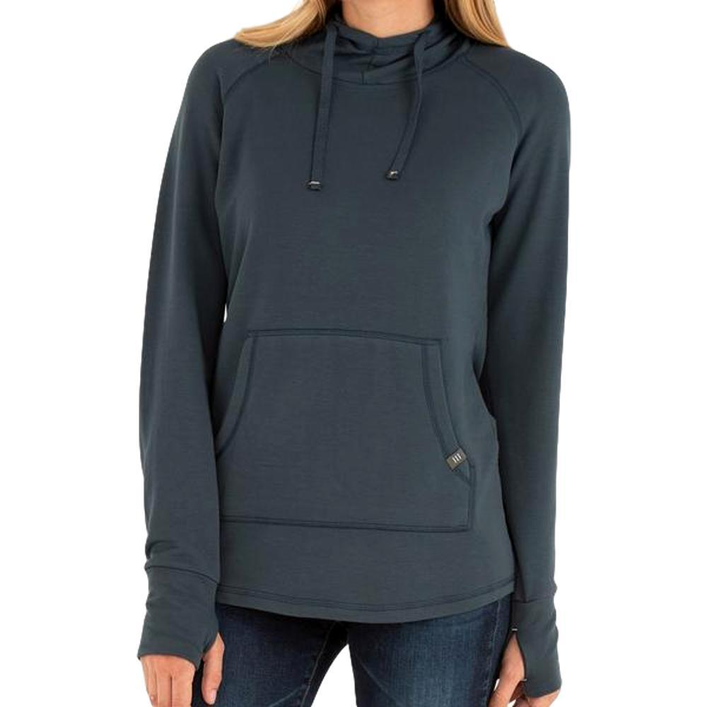 Free Fly Women's Bamboo Fleece Pullover Hoody BLUEDUSK_111