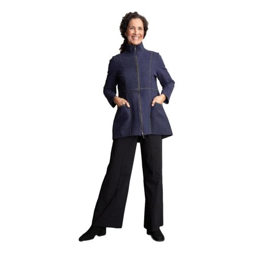 Habitat Women's Double Sided Fleece Car Coat Denim