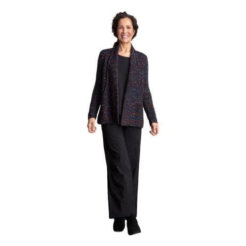 Habitat Women's Confetti Yarn Cardigan with Built In Pockets Black