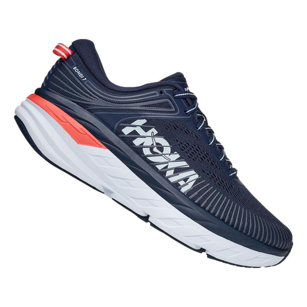 HOKA ONE ONE Women's Bondi 7 Running Shoes BKIRS.BLU_BIBBL