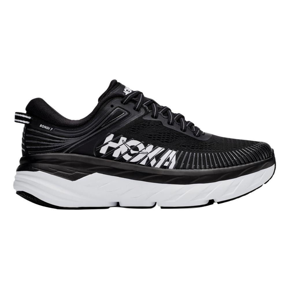 HOKA ONE ONE Women's Bondi 7 Running Shoes BLK.WHT_BWHT