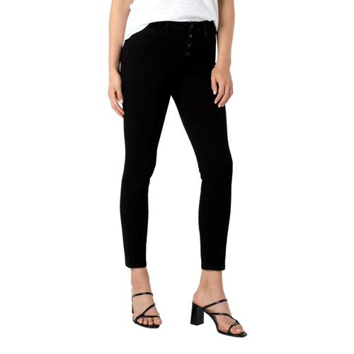 Liverpool Women's Abby High-Rise Skinny Eco Jeans Blackrinse