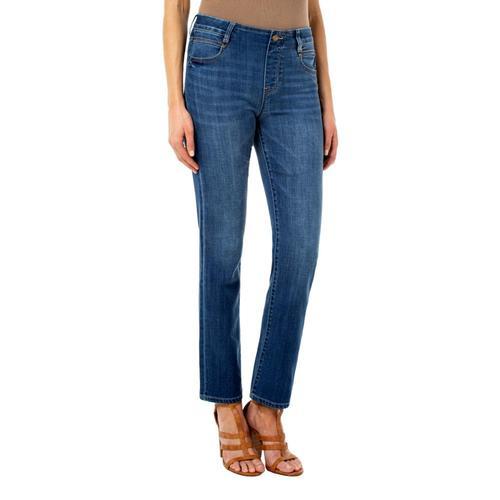 Liverpool Women's Gia Glider Straight Crosshatch Jeans Cartersville
