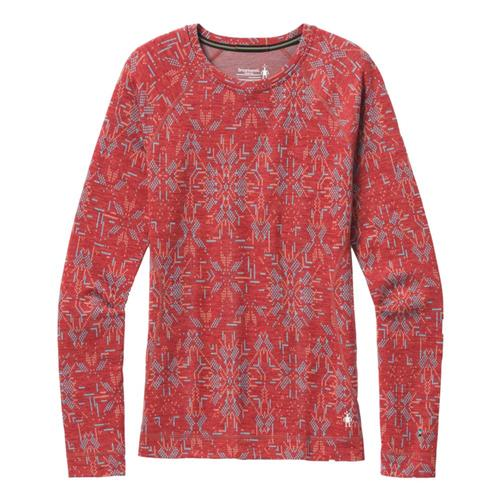 Smartwool Women's Merino 250 Base Layer Pattern Crew Masala_e37