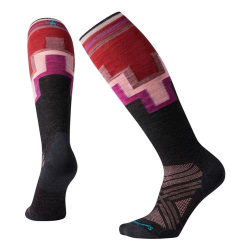 Smartwool Women's PhD Ski Ultra Light Pattern Socks Charco_003