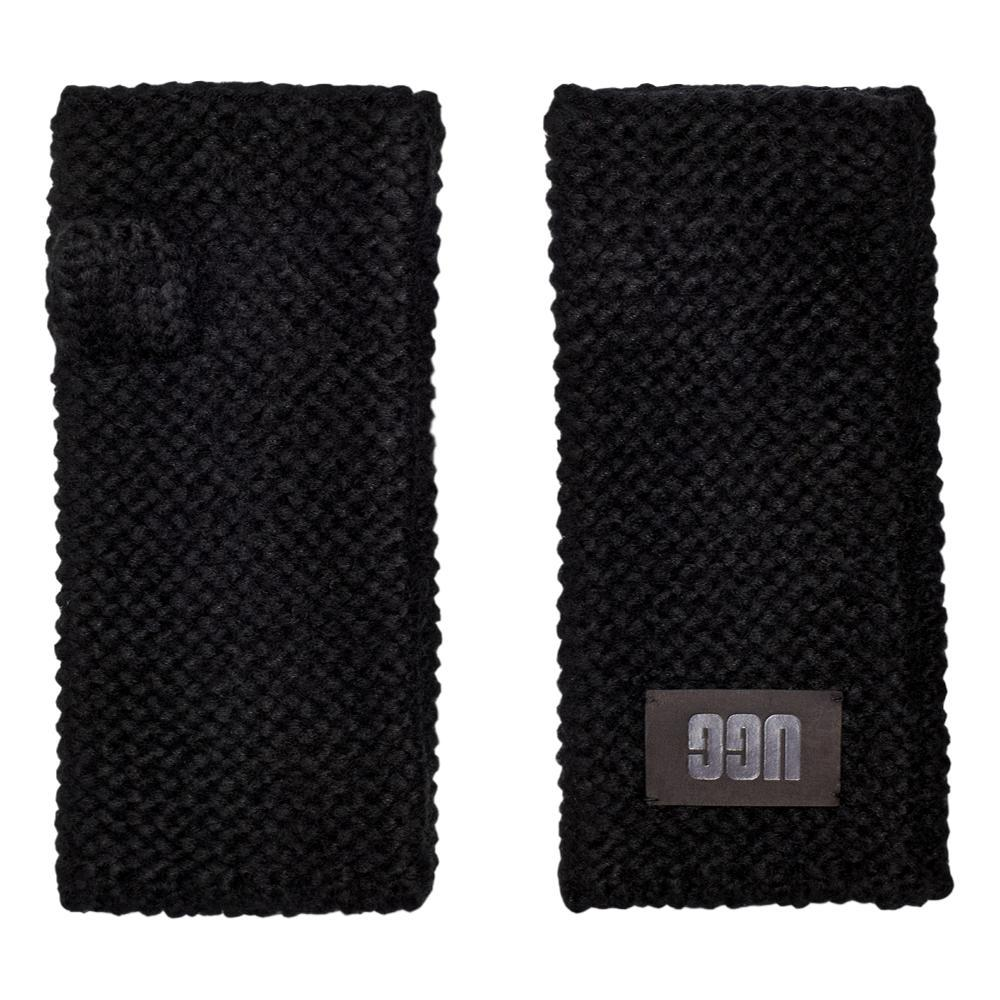 UGG Women's Fingerless Kinit Gloves BLACK_BLK