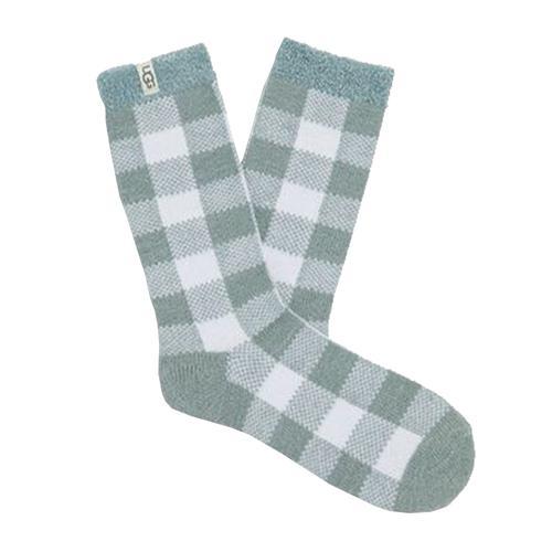 UGG Women's Vanna Check Fleece Lined Socks Succu_stwt