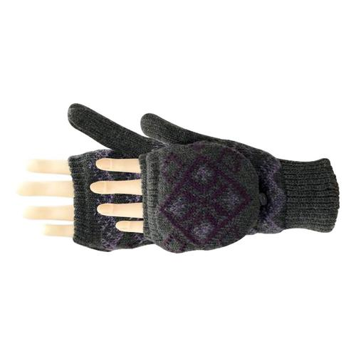 Manzella WomenÕs Diamond Convertible Gloves Hthgrey