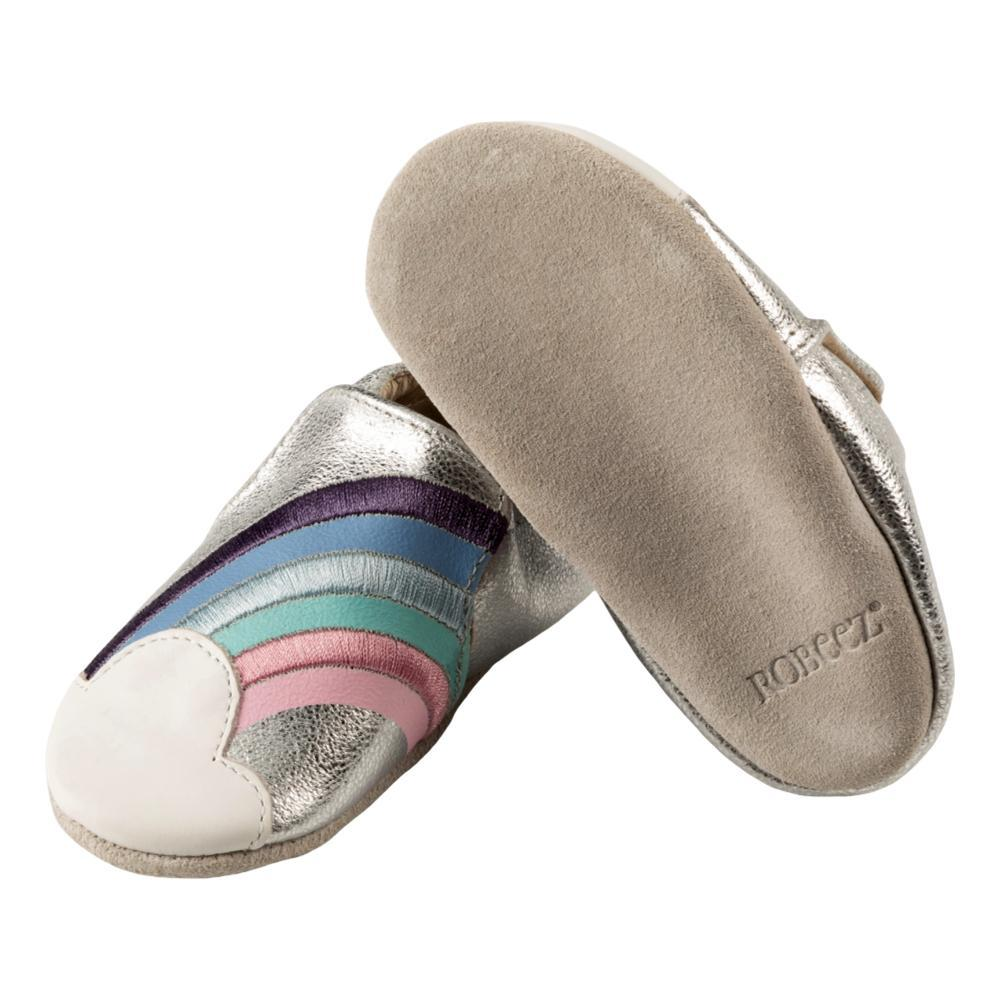 Robeez Infant Silver Leather Hope Soft Soles SLVRRNBW
