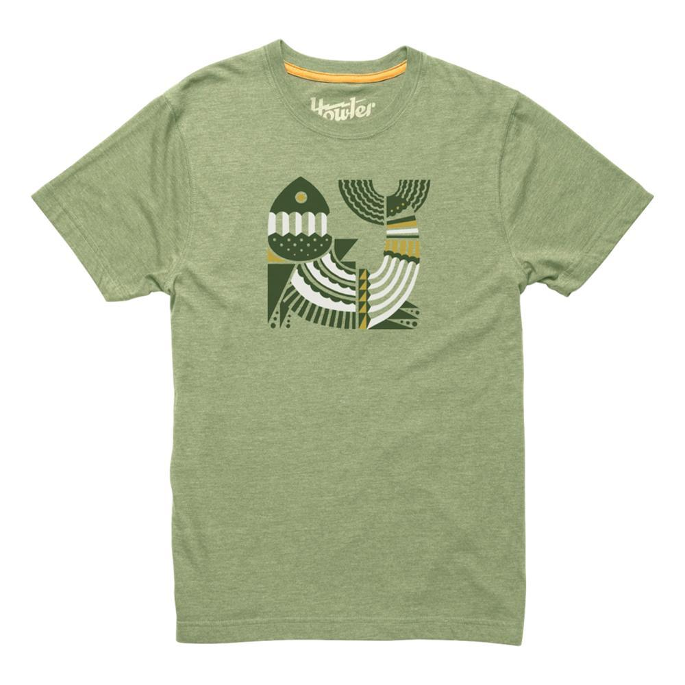 Howler Brothers Geometric Fish T-Shirt PISTACHIO
