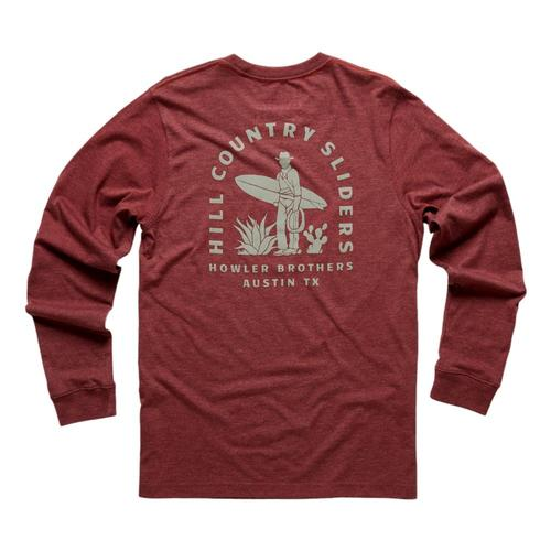 Howler Brothers Hill Country Sliders Longsleeve T-Shirt Burgundy