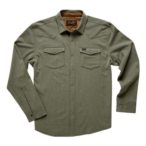 Howler Brothers Men's Stockman Stretch Snapshirt Moss_mos