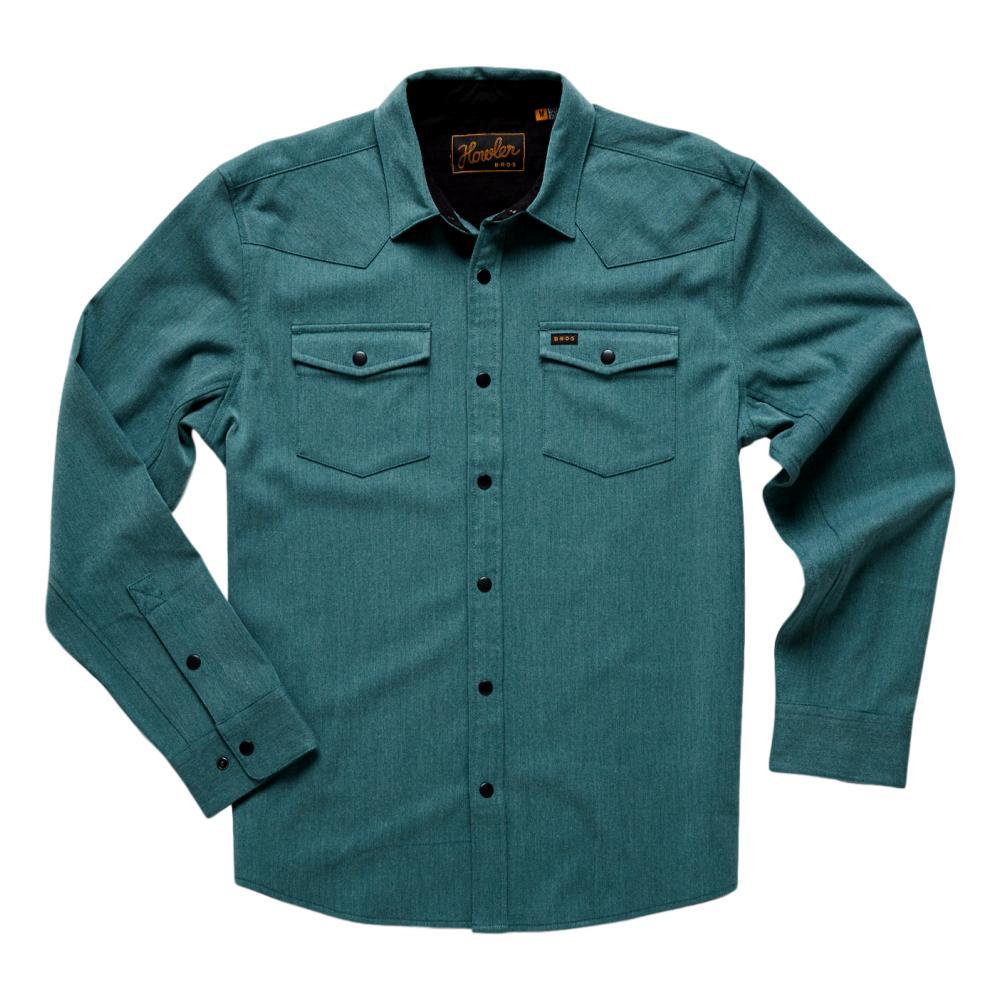 Howler Brothers Men's Stockman Stretch Snapshirt TEAL_DTL