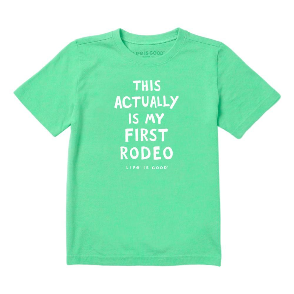 Life is Good Toddler Not My First Rodeo Crusher Tee SPRGREEN