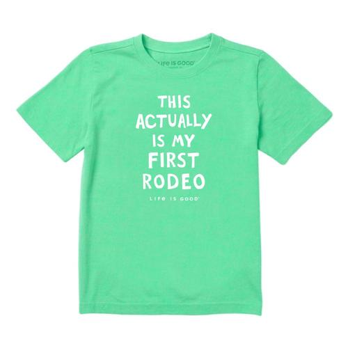 Life is Good Toddlers Not My First Rodeo Crusher Tee Sprgreen