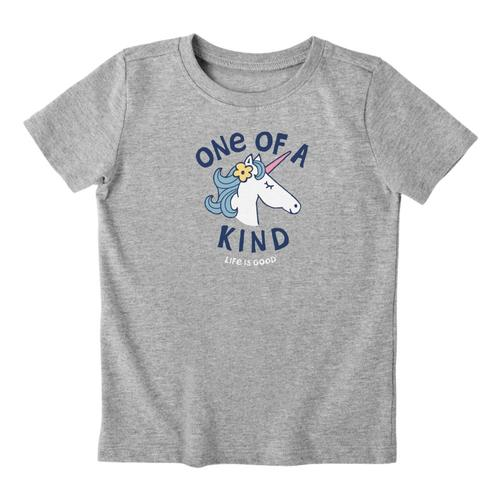 Life is Good Toddlers Kind Unicorn Crusher Tee Hthrgray