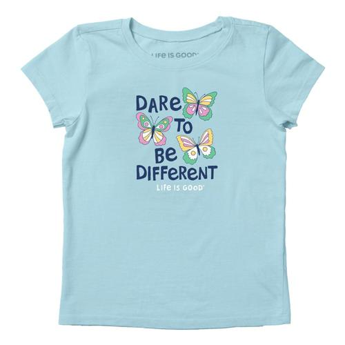 Life is Good Girls Dare To Be Different Crusher Tee Bchblue