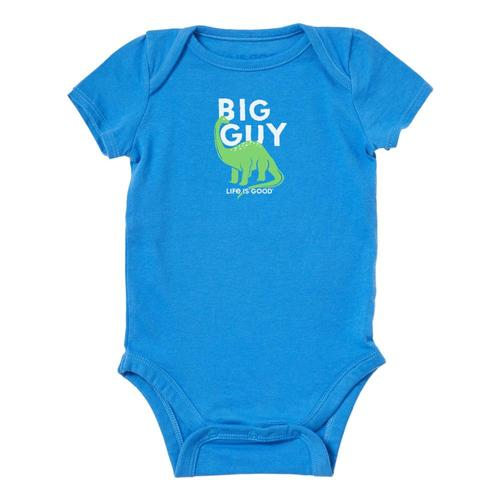 Life is Good Baby Big Guy Crusher Bodysuit Rylblue