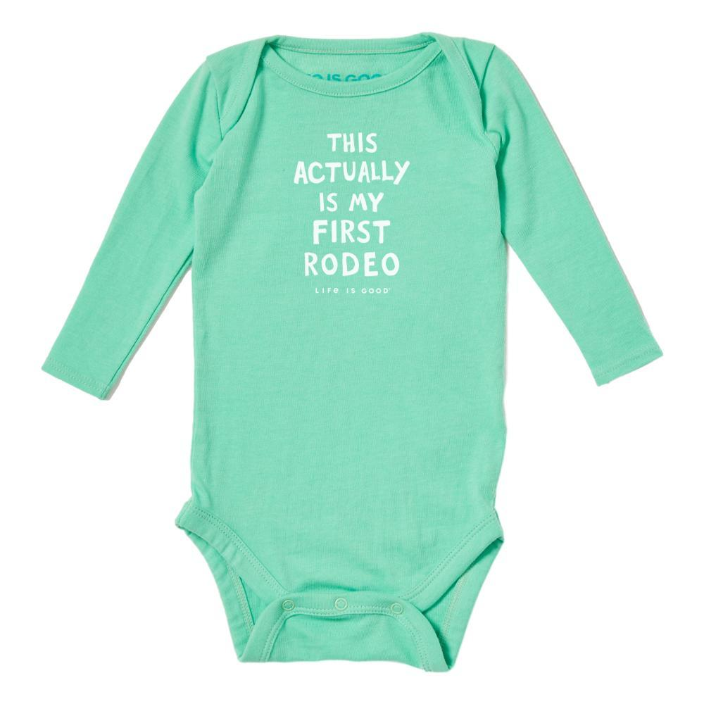 Life is Good Baby Not My First Rodeo Crusher Bodysuit SPRGREEN