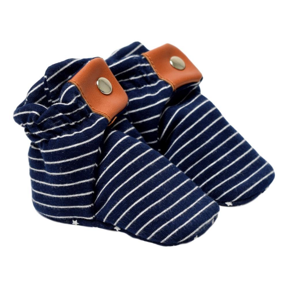 Robeez Infant Stripe Navy Booties NVYSTRIPE