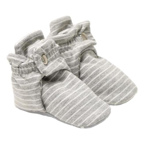 Robeez Infant Stripe Grey Booties Grystripe