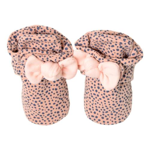 Robeez Infant Animal with Bow Booties Pinkbow