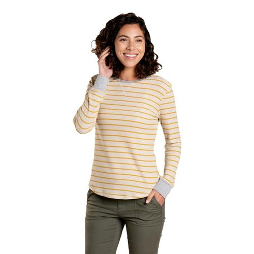 Toad&Co Women's Foothill Long Sleeve Crew Shirt Almond_261