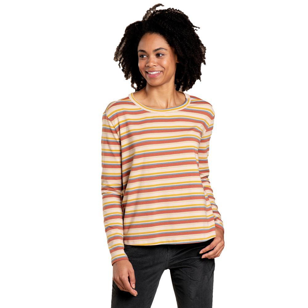 Toad&Co Women's Maisey Long Sleeve Swing Crew Shirt CHAI_696