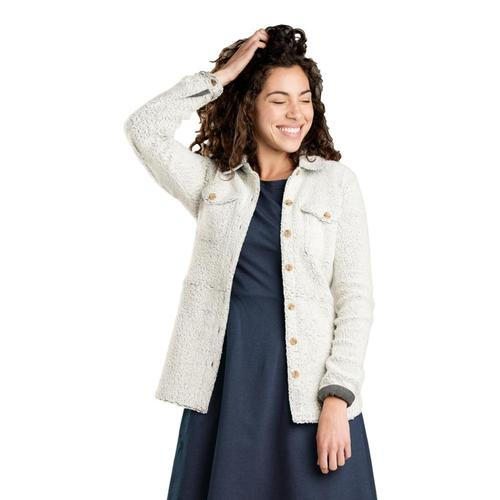 Toad&Co Women's Telluride Sherpa Shirt Jacket Natural_016