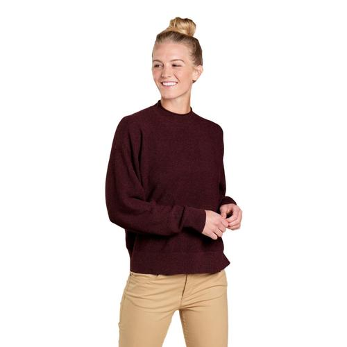 Toad&Co Women's Lily Mock Neck Sweater Mahogany_208