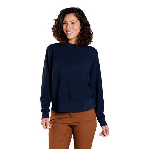 Toad&Co Women's Lily Mock Neck Sweater Truenavy_414