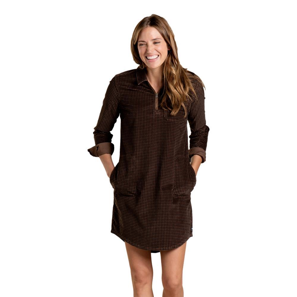Toad&Co Women's Cruiser Cord Popover Dress CHESTNUT_988