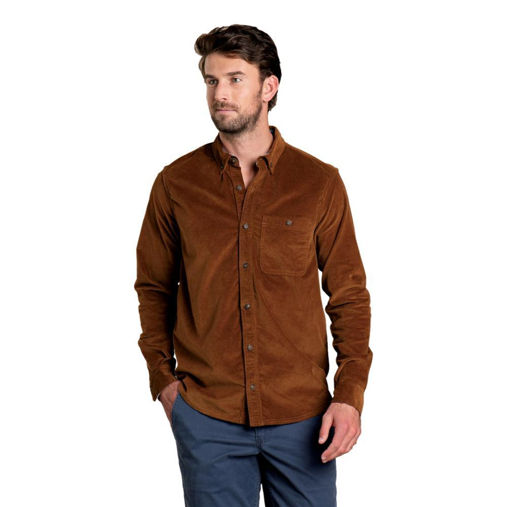 Toad&Co Men's Cruiser Cord Long Sleeve Shirt BROWN_239